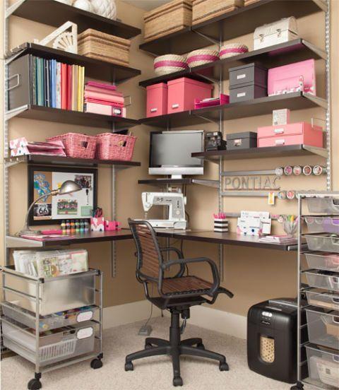 101 best elfa office images on pinterest for Elfa desk system