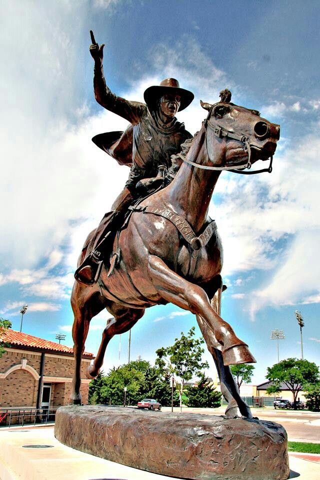 Texas Tech University Masked Rider Statue Texas Tech