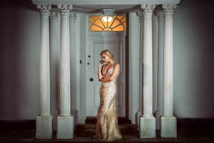 SikhandDread Bridal Portrait - Gatsby Style Dress