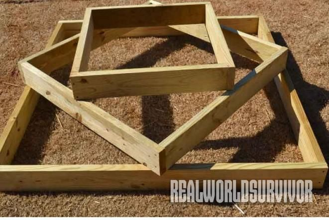 DIY: How to Build A Sturdy, Three Tiered, Raised Garden Box Tight on space? Hit the strawberry or herb trifecta with these plans for a sturdy, three-tiered, raised garden box. - See more at: http://www.realworldsurvivor.com/2015/06/09/diy-how-to-build-a-sturdy-three-tiered-raised-garden-box/#image-3-3