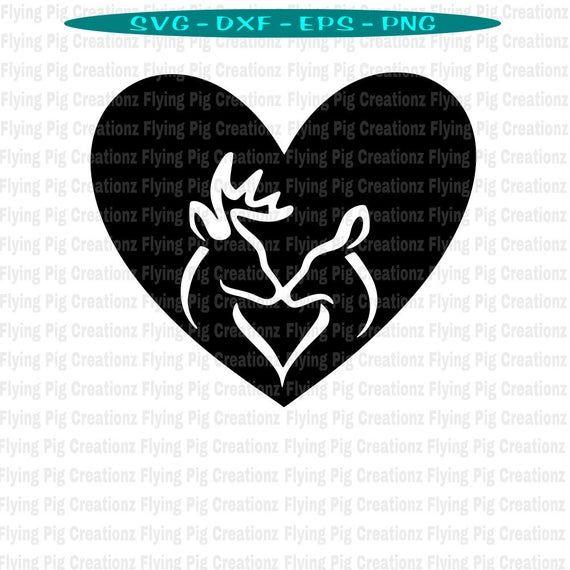 Download deer SVG, Deer kissing with Heart svg, Doe and Buck svg ...