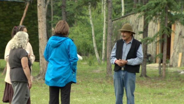 Harold Johnson has been building traditional shelters and teaching about First Nations' culture for 20 years. 'Educational tourism is what we're doing here,' he says.