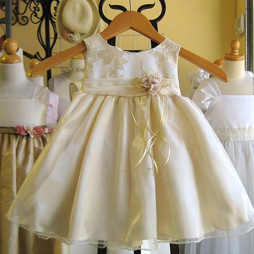 Champagne Gold Dress For The Baby Wedding