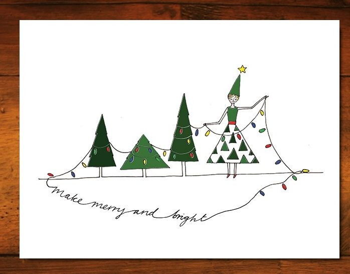 Felt Christmas Cards -- lets you send cards from your tablet using your own handwriting! (Great for sending only a few cards to specific friends and family)