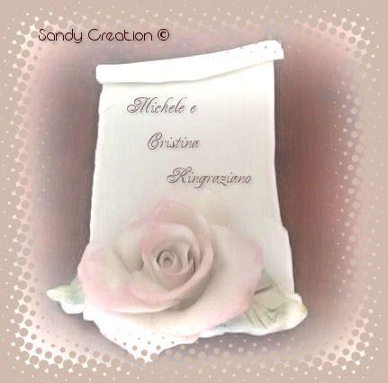 pergamena segnaposto matrimonio in pasta di mais