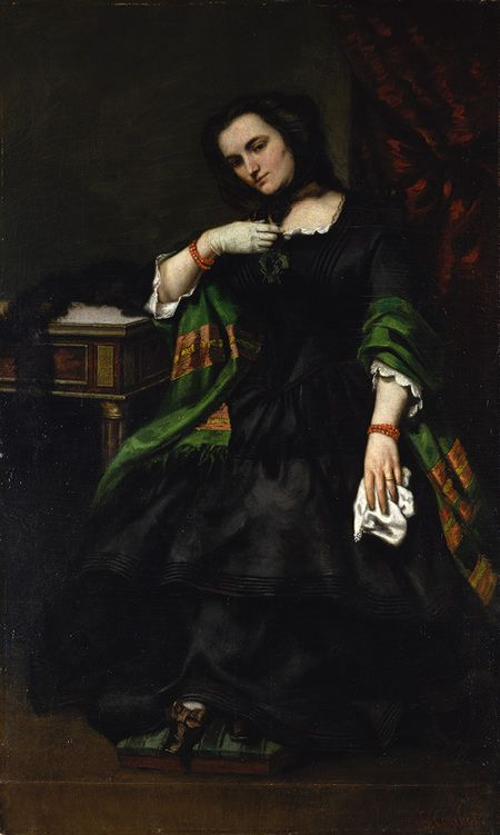 Gustave Courbet, Madame Auguste Cuoq, c. 1852 - 1857   See the best #Art installations in New York at www.artexperience...