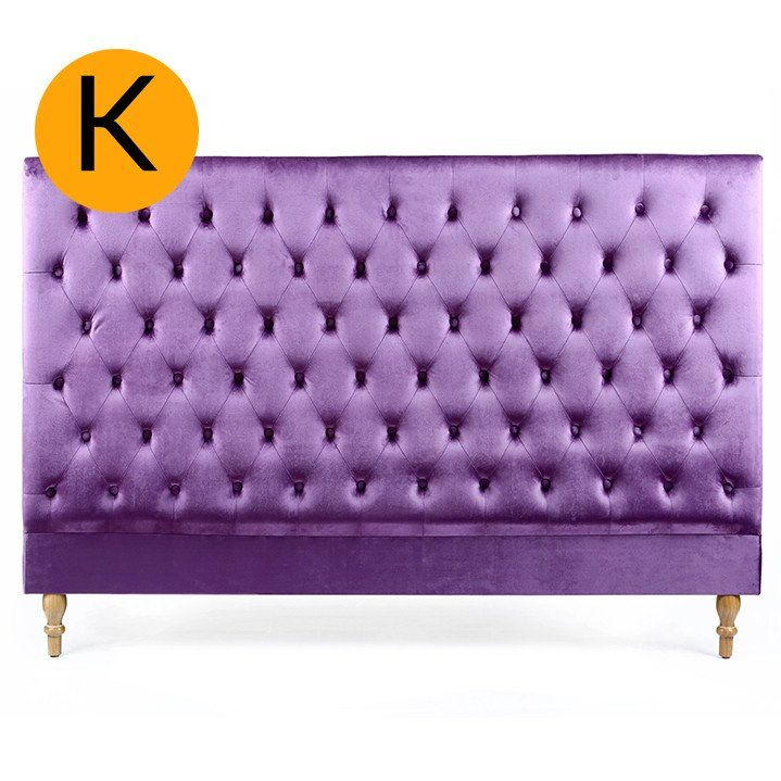 Charlotte Chesterfield Bedhead King Size Violet