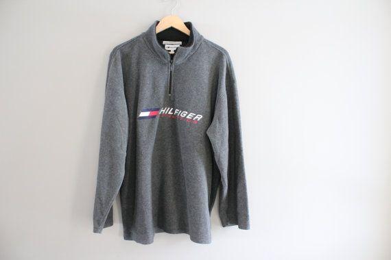 tommy hilfiger sweatshirt grey fleece zip up tommy. Black Bedroom Furniture Sets. Home Design Ideas