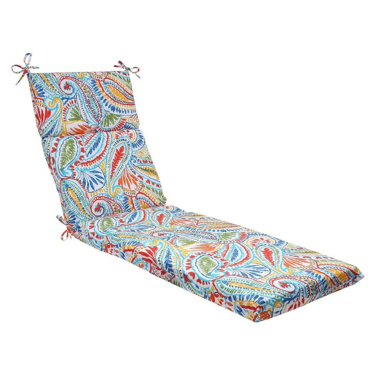 Pillow Perfect Ummi Outdoor Chaise Lounge Cushion - Multicolored