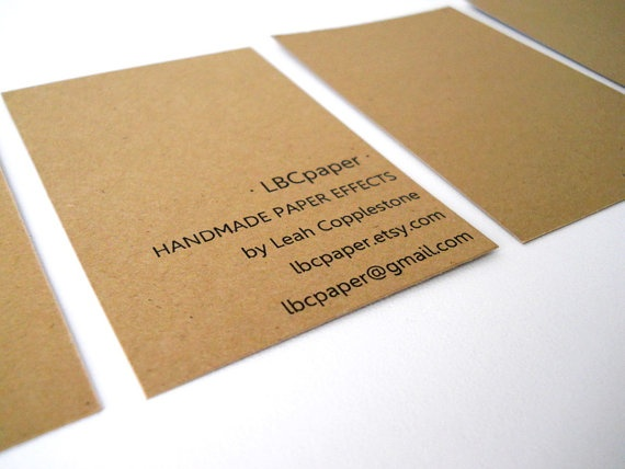 kraft paper business cards diy and crafts