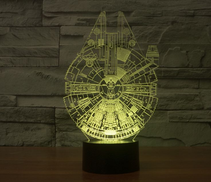 Simple Millennium Falcon Light Lamp Star Wars Character Product Details Overall Size mm W x X ud x x Light Sourc