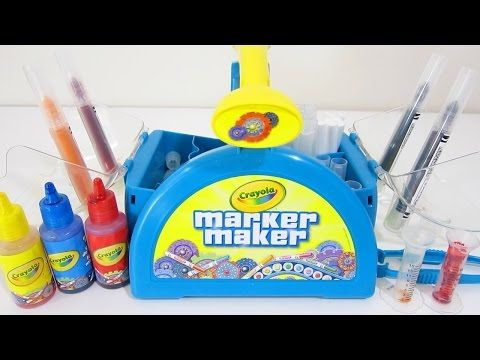 Crayola Marker Maker Play Kit | Easy DIY Make Your Own Color Markers! - YouTube