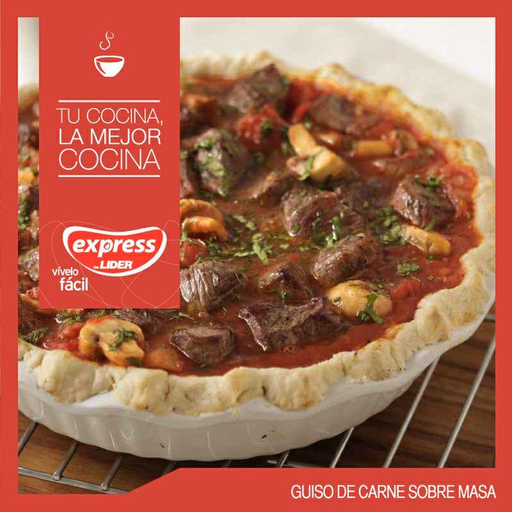 Guiso de carne sobre masa  #Recetario #Receta #RecetarioExpress #Lider #Food #Foodporn #Mundial #Australia