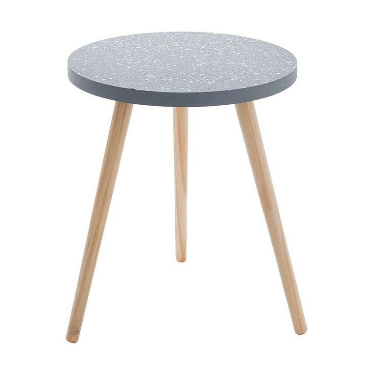 Τραπέζι Ξύλινο Γκρι με Μπεζ πόδια