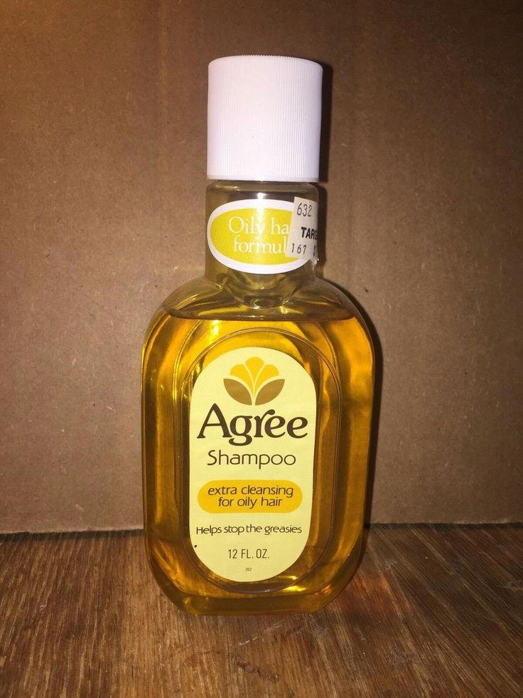 Vintage Agree Shampoo bottle for oily hair