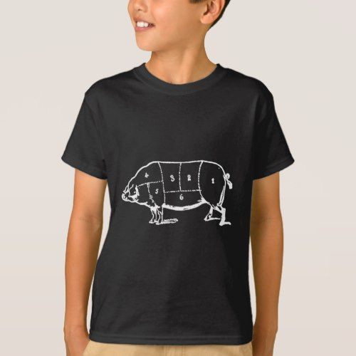 Pork (PIG) Butchers Chart - Bacon T-Shirt