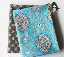 2015 новый 2 шт./лот 50 x 50 см цветочный одежда ткань тильда куклы домашнего текстиля швейной лоскутное полотно стегальные ткань C001(China (Mainland))