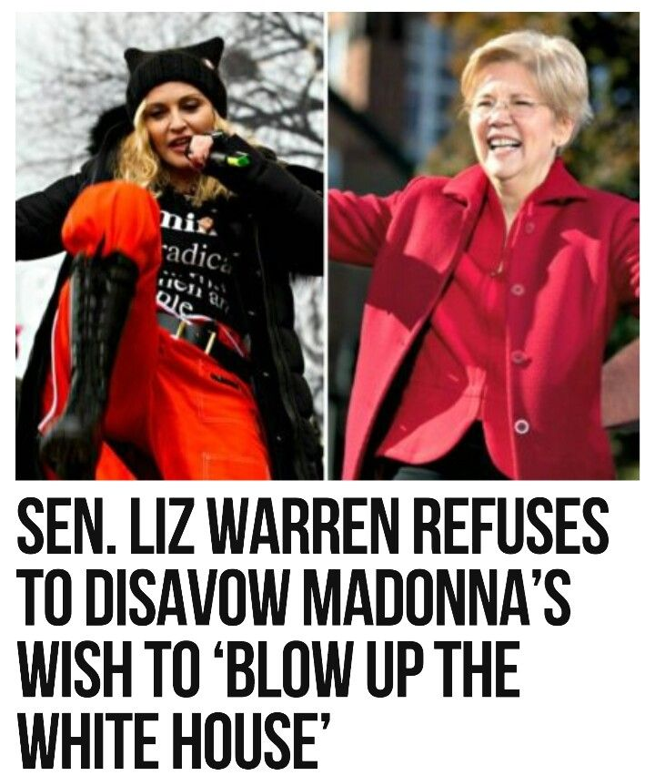 Pocahontas Warren is as much a domestic terrorist as the old whore Madonna