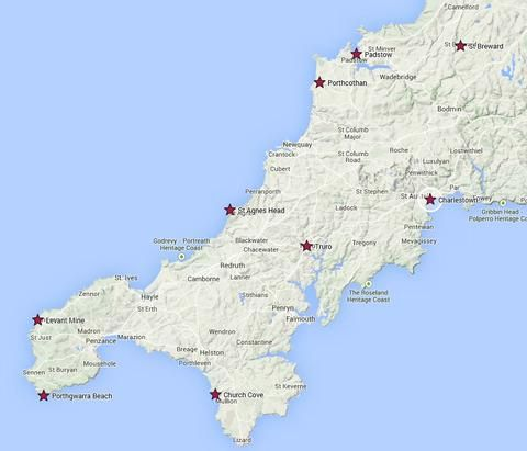 For all the Poldark lovers out there planning a visit to Cornwall - a simple interactive map to help plan your route around the county