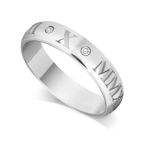 House of Williams 9ct White Gold Gents 5mm Roman Numerical Court Shape Wedding Ring Set with 2 Diamonds in between the Roman Numericals with Date of your Choice http://www.howweddingrings.co.uk/Products/10999-house-of-williams-9ct-white-gold-gents-5mm-roman-numerical-court-shape-wedding-ring-set-with-2-diamonds-in-between-the-roman-numericals-with-date-of-your-choice.aspx £381.00 #weddingring
