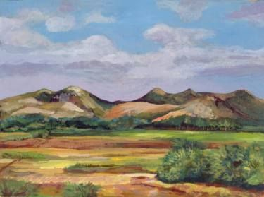 "Saatchi Art Artist Sonal Panse; Painting, ""Mountains, Clouds, Some Sun"" #art"