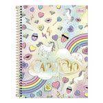 Caderno Espiral Capa Dura Universitário 1 Matéria 96 Folhas Capricho Rainbow Tilibra