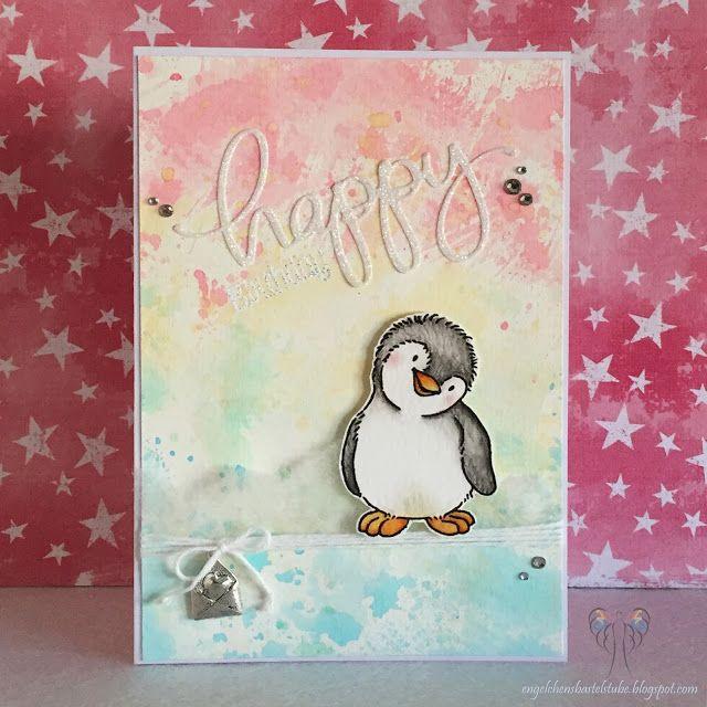 Happy birthday Pinguin; Kulricke - Felix; Mama Elephant; Ditschtechnik