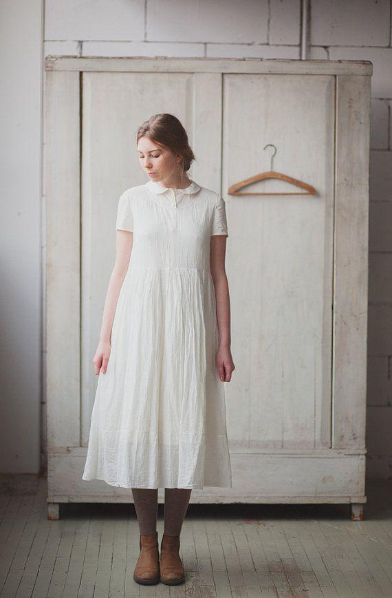 White Petticoat, Soft Cotton, Slip Dress, Women Fashion, High Waist, Sleepwear, Underwear Dress