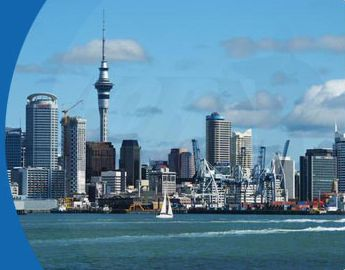 Auckland harbour view from North Shore
