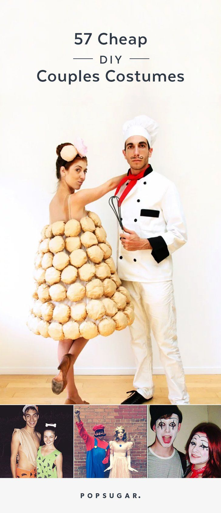 You and your significant other will love these cheap DIY Halloween costume ideas.