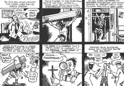 Comic Art / Analytical View of Judeo-Christian Double Talk by Justin Green http://lambiek.net/artists/g/green.htm