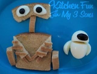 Wall-E and EVA breakfast