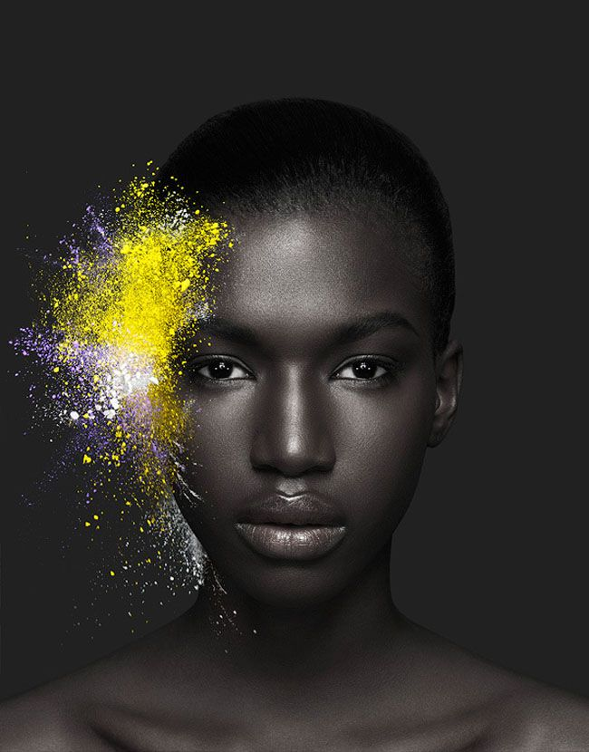 Cosmetic Explosion - A beautiful campaign for Artisan Make Up Paris captured by French photographer Ludovic Taillandier