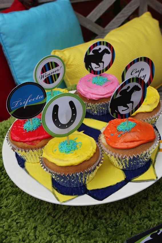 Melbourne Cup party printables - Cupcake toppers