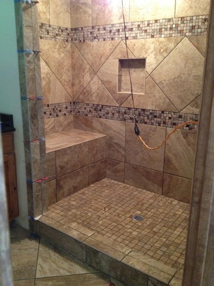 Custom 5x7 Shower Bathroom Design Pinterest