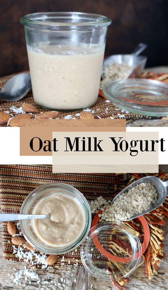 Homemade yogurt that uses oat milk and is completely #vegan, as well as a great source of probiotics.