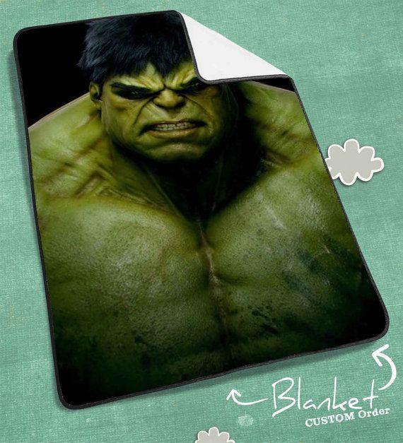 Incredible Hulk Blanket Hulk Blanket Heroes Blanket by NICOLEPAT