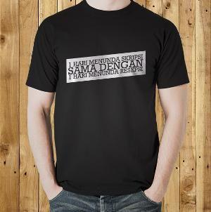 Jual Kaos 'Skripsi & Resepsi' Kata Kata Tulisan Lucu Kocak Unik Keren T Shirt Distro Online