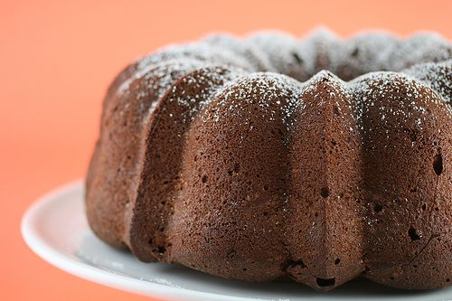 Chocolate Pound Cake - delicious! Just one change to make it more chocolaty - reduce flour to 2C and increase cocoa to 1C