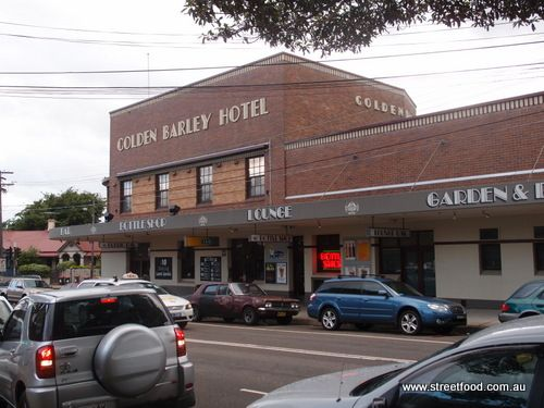 Golden Barley Hotel, an art deco pub in the backstreets of Enmore