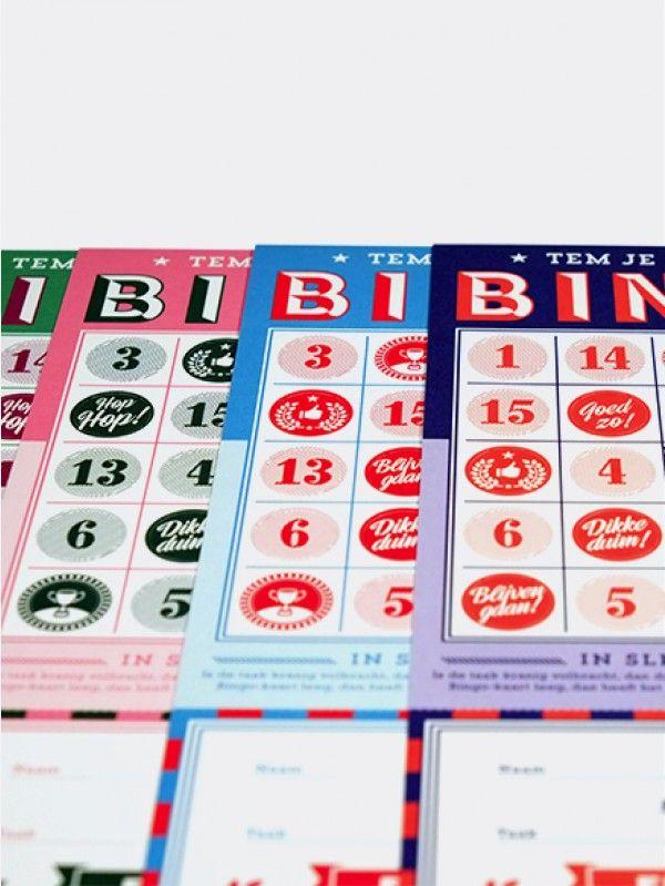 Bingo. BINGOO!! Beloon je kinderen na een goede daad!. Stel: je kind eet nooit zijn/haar bord leeg, geen probleem! Bij elk leeg bord mag hij/zij een cijfer uitduwen. Heb je een lege bingo kaart dan verdient hij/zij een beloning! Bv.: Gaan zwemmen,  een ijsje gaan eten, samen naar de speeltuin gaan,… Super leuk voor u en natuurlijk uw kinderen!