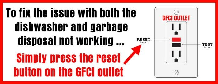 Reset The Gfci Outlet If Dishwasher And Garbage Disposal