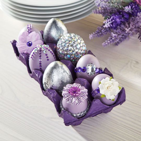 Lavender Easter Gemstone EggsLavender Easter Gemstone Eggs