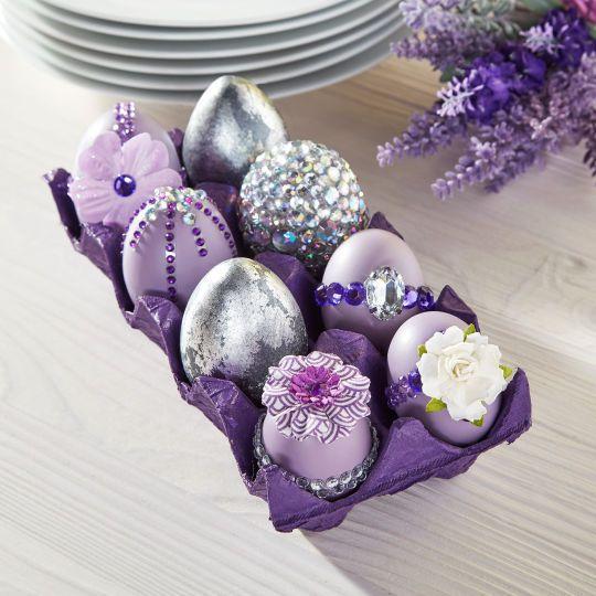 Lavender Easter Gemstone EggsLavender Easter Gemstone Eggs