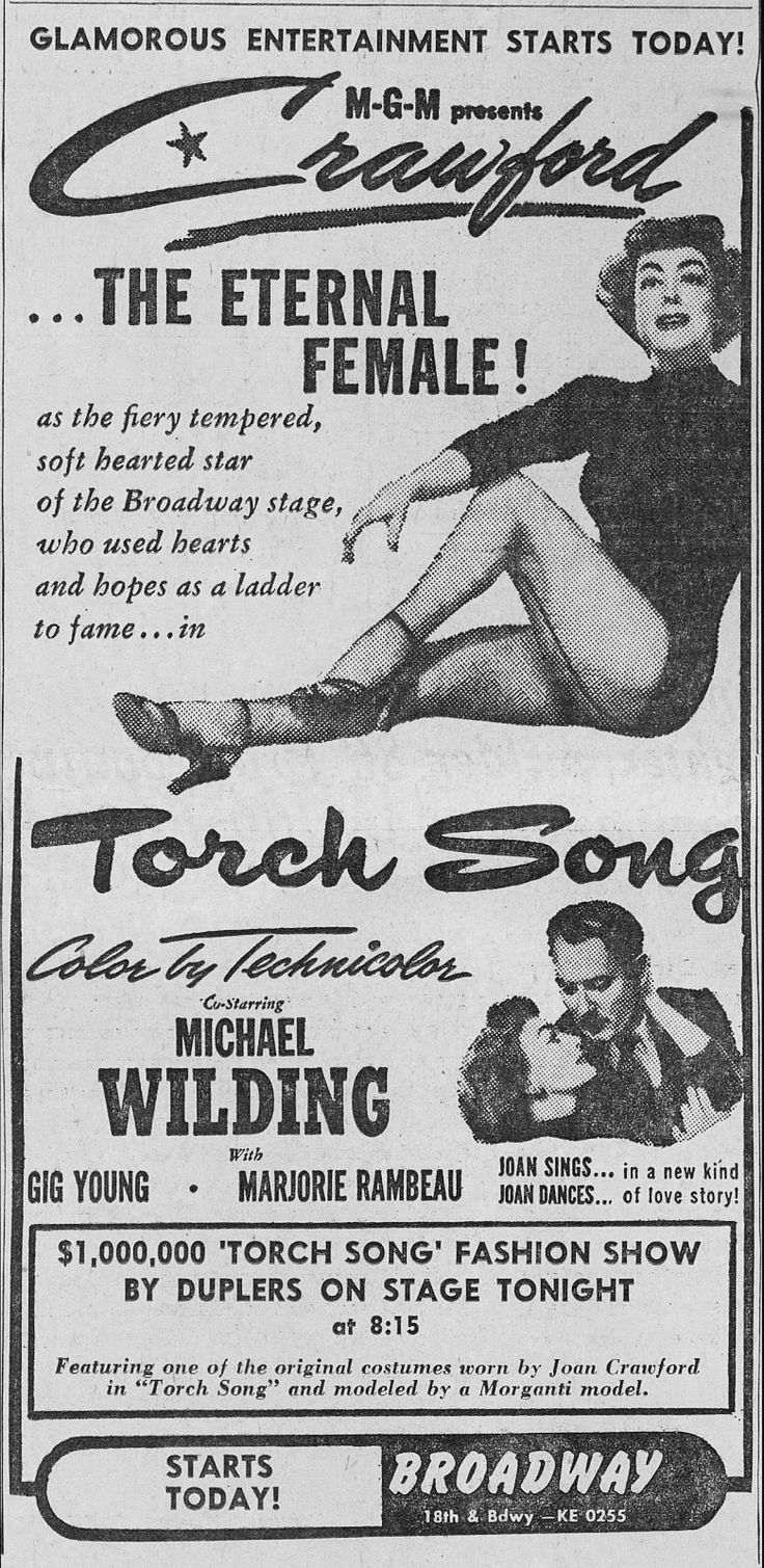 """TORCH SONG"" ad"