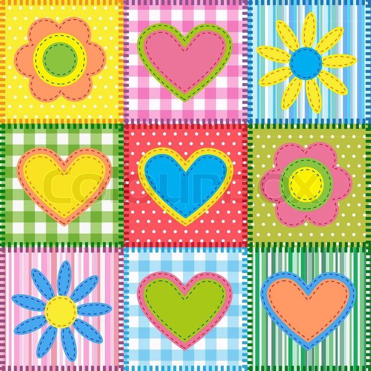 Szabad Patchwork minták: szív