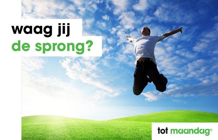Waag jij de sprong? Maandag® heeft de leukste vacatures binnen de overheid, in de zorg en in het onderwijs. Kijk snel op www.maandag.nl