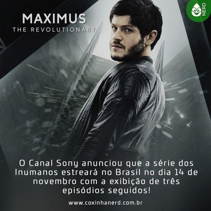 #CoxinhaNews Agora sim podemos dar nosso veredito para a série!  #TimelineAcessivel #PraCegoVer  Imagem da Maximus (Iwan Rheon) da série dos Inumanos com a legenda: O Canal Sony anunciou que a série dos Inumanos estreará no Brasil no dia 14 de novembro com a exibição de três episódios seguidos!  TAGS: #coxinhanerd #nerd #geek #geekstuff #geekart #nerd #nerdquote #geekquote #curiosidadesnerds #curiosidadesgeeks #coxinhanerd #coxinhaseries #series #seriados #viciadosemseries #dicadeserie…