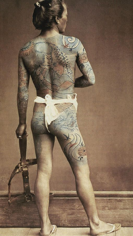 Man With Traditional Japanese Irezumi Tattoo Photograph  - Man With Traditional Japanese Irezumi Tattoo Fine Art Print