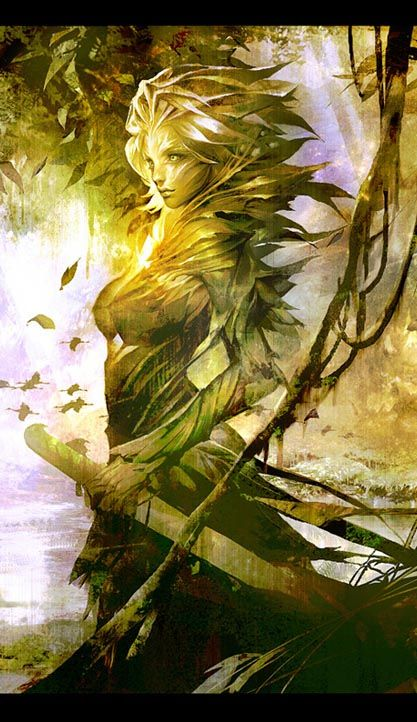 """""""GW2 Slyvari by Thefirstcolor (cropped for detail)"""""""
